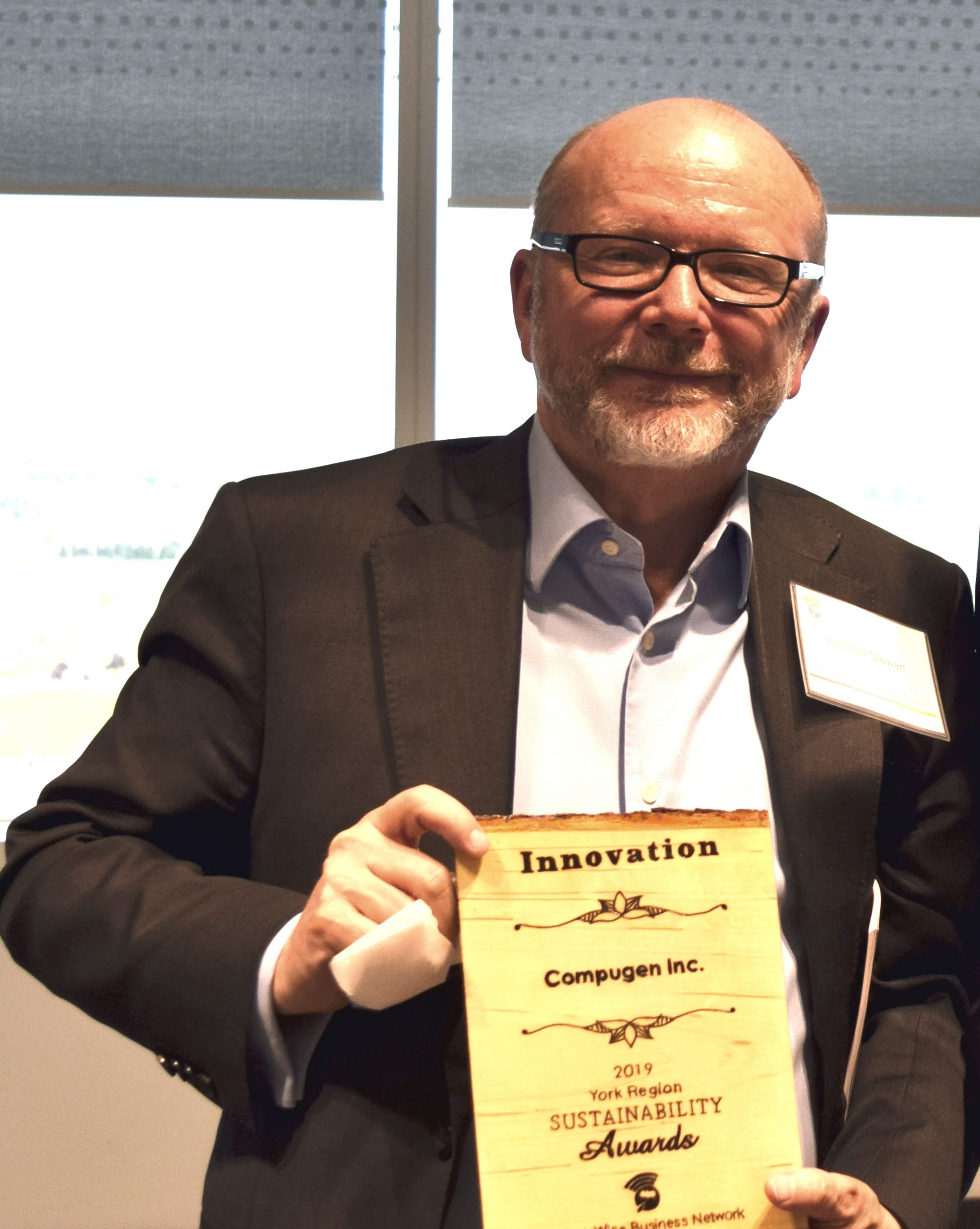 Compugen Inc and Green4Good jointly awarded Innovation Award at York Region Sustainability Awards Ceremony